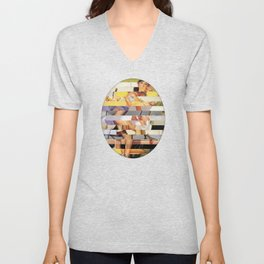 Glitch Pin-Up Redux: Isabella Unisex V-Neck