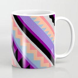 Wavy Chevron - Peach Plum Coffee Mug