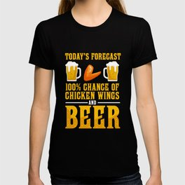Funny Chicken Wing Beer Fast Food Lover T-shirt