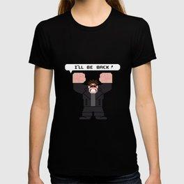 I'LL BE BACK! (RED EYES) T-shirt