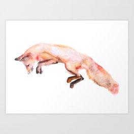 Catching Prey Watercolor Illustration Art Print