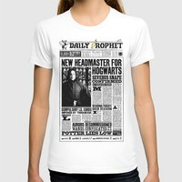 "snape T-shirts featuring Daily Prophet ""NEW Head Master, Severus Snape"" by Win Graphics"