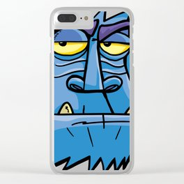 Antarctic angry monkey Clear iPhone Case