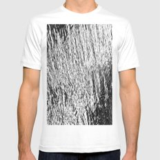 Water Abstract MEDIUM White Mens Fitted Tee