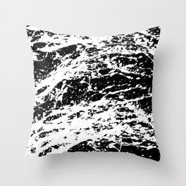 Black and White Paint Splatter Throw Pillow