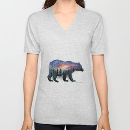 The bear without a forest Unisex V-Neck