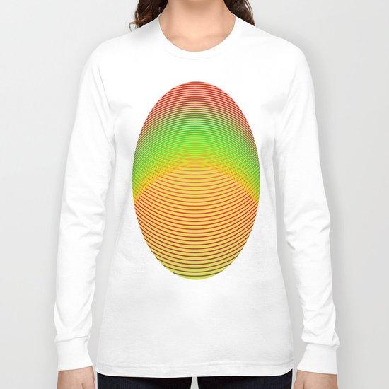 Orange Helix Long Sleeve T-shirt
