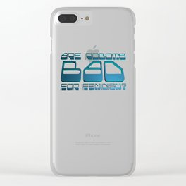 Robots vs Feminism Clear iPhone Case
