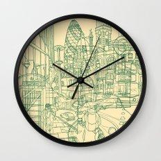 London! Cream Wall Clock