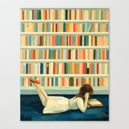 I Saw Her In the Library Canvas Print
