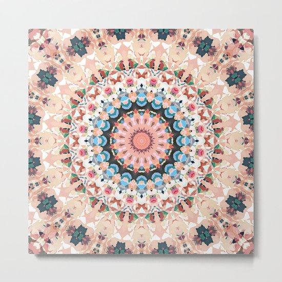 Textural Circles of Color Metal Print