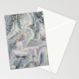 Marbled Metallic paper Stationery Cards