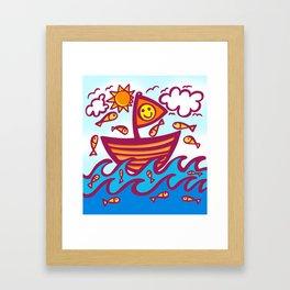 LUCKY FISHING DAY Framed Art Print