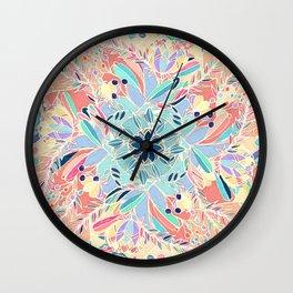 Paradise Doodle Wall Clock