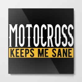Motocross Lovers Gift Idea Design Motif Metal Print