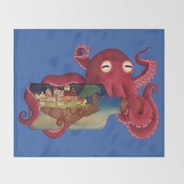 World in bottle: Atalantis (Octopus - monster) Throw Blanket