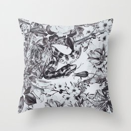 Snakes in bloom Throw Pillow