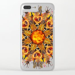 horrible insects mandala Clear iPhone Case