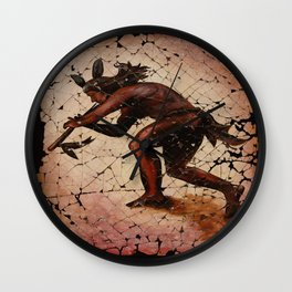 Kokopelli, The Flute Player. Wall Clock