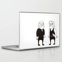 twins Laptop & iPad Skins featuring twins  by Adrian Osorio