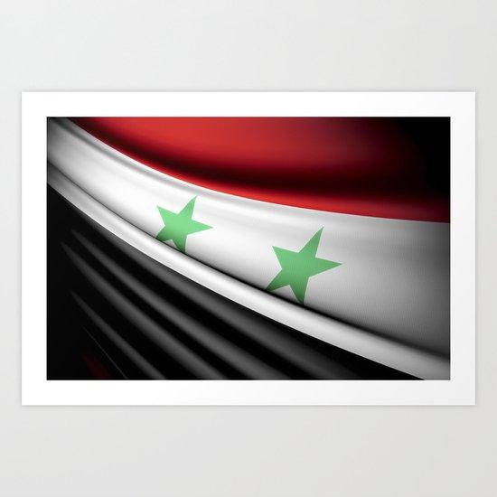 Flag of Syria Art Print