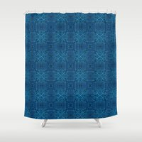 knit Shower Curtains featuring Knit Reflection by Katie Troisi