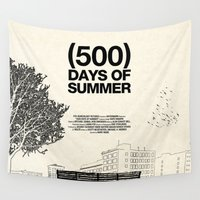 cinema Wall Tapestries featuring (500) Days of Summer by Martin Lucas