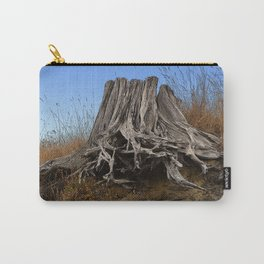 WEATHERED STUMP AND ROOTS ON BEACHSIDE BLUFF Carry-All Pouch