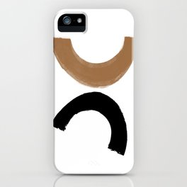 Beige and Black Collage iPhone Case