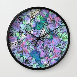 Little Purple Flowers Wall Clock