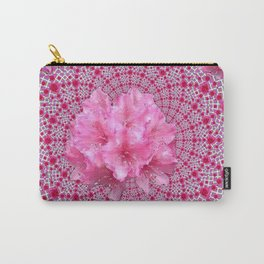 FUCHSIA OPTICAL PINK FLORAL PATTERN Carry-All Pouch