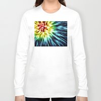 tie dye Long Sleeve T-shirts featuring Abstract Dark Tie Dye by Phil Perkins