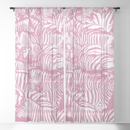 Pink Zebras Sheer Curtain