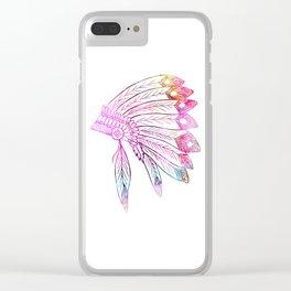 Native American War Bonnet Clear iPhone Case