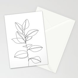 One line plant illustration - Dany Stationery Cards
