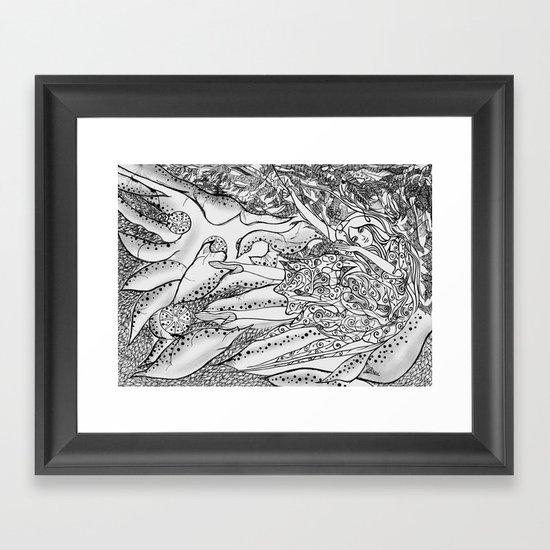 Secret Garden / Original A4 Illustration / Pen & Ink Framed Art Print
