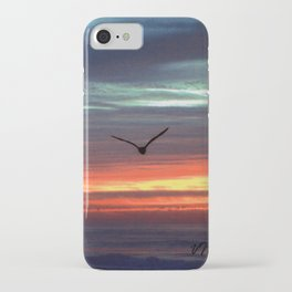 Black Gull by nite iPhone Case