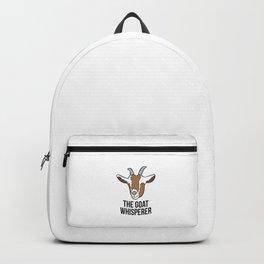 The Goat Whisperer Funny Goat Farmer Gift Backpack