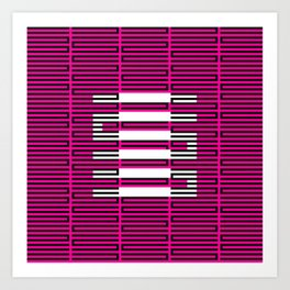 Licorice Bytes, No.3 in Black and Pink Art Print