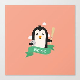 Baseball Penguin from IRELAND T-Shirt for all Ages Canvas Print