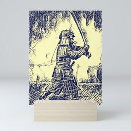 Samurai Warrior Katana Mini Art Print