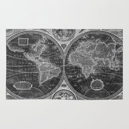 World map rugs society6 black and white world map 1626 inverse rug gumiabroncs Images
