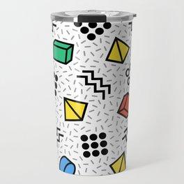 Abstract Memphis Style Pattern Travel Mug