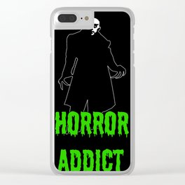 Horror Addict Clear iPhone Case