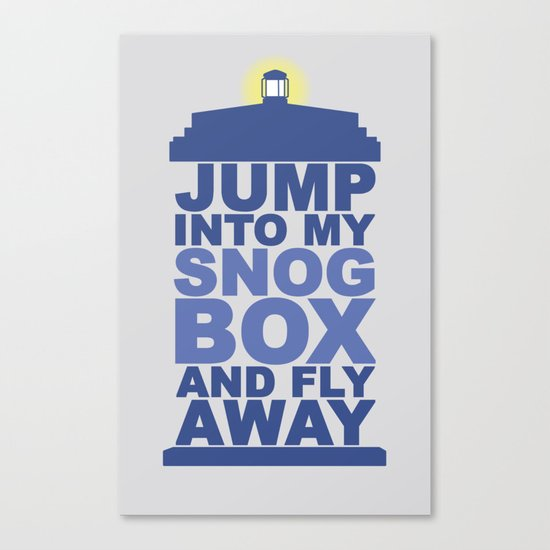 Snog Box (Tardis) Canvas Print