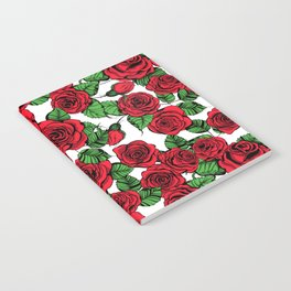 Red roses pattern Notebook