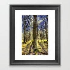 Peaceful Forest Van Gogh Framed Art Print