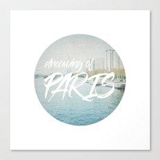 Dreaming of Paris - Circle Art Canvas Print
