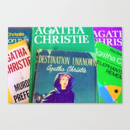 Destination Unknown - Vintage Agatha Christie Canvas Print