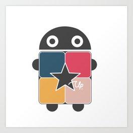 StarUp Robot Art Print